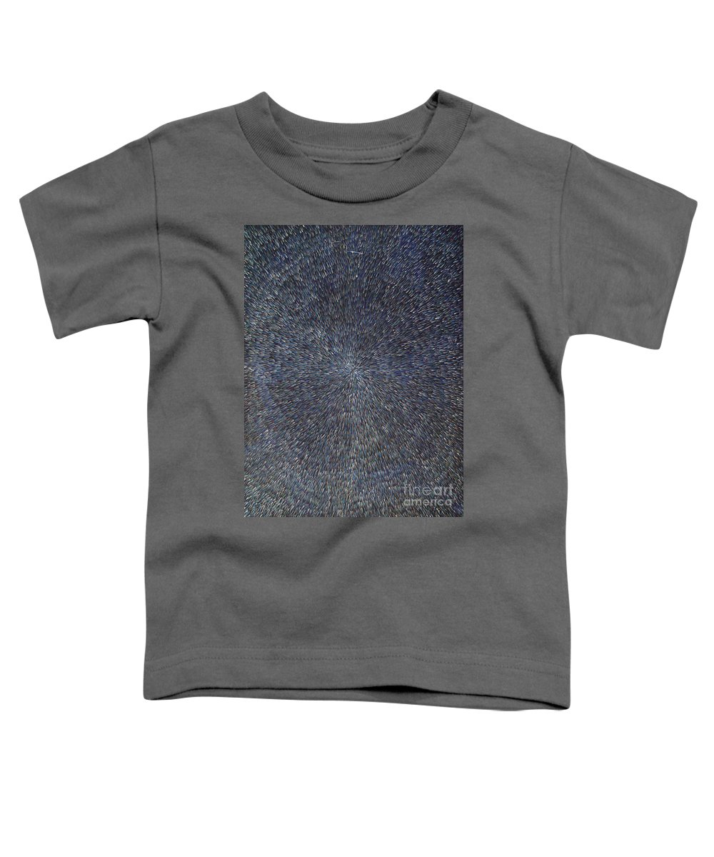 Abstract Toddler T-Shirt featuring the painting Night Radiation by Dean Triolo