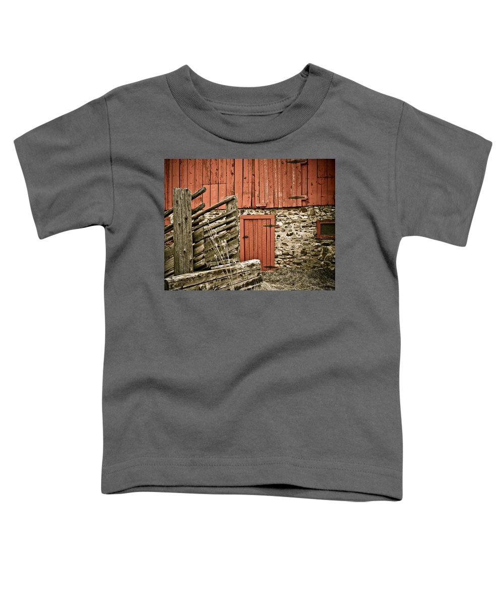 Old Toddler T-Shirt featuring the photograph Old Wood by Marilyn Hunt