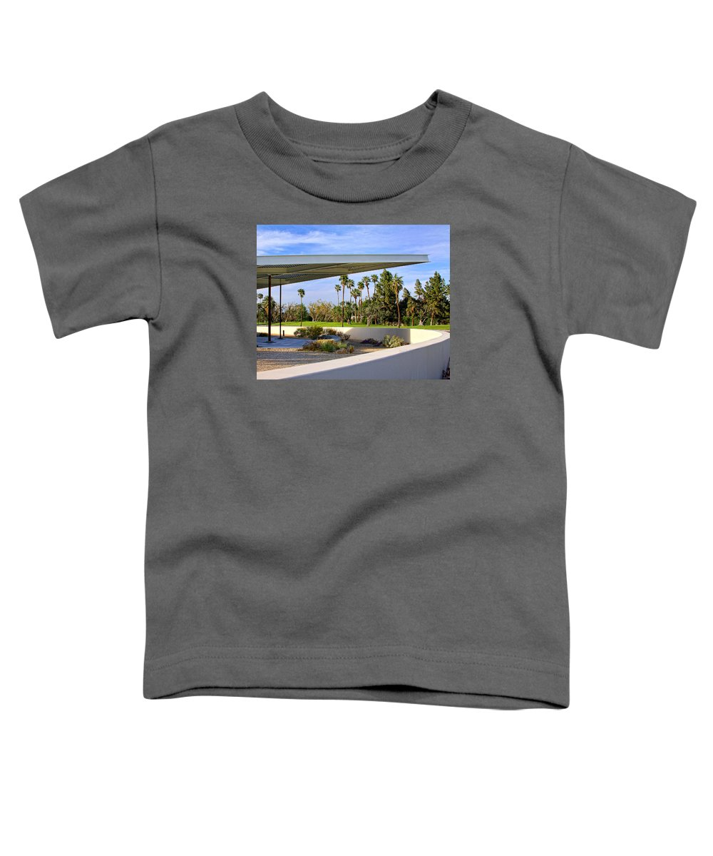 Palm Springs Toddler T-Shirt featuring the photograph OVERHANG Palm Springs Tram Station by William Dey