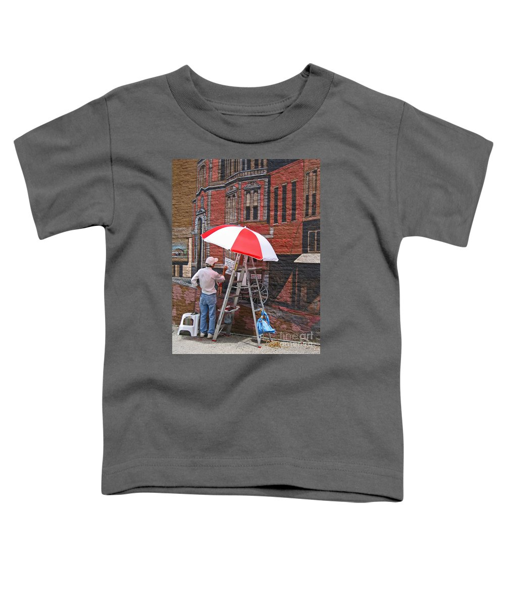 Artist Toddler T-Shirt featuring the photograph Painting The Past by Ann Horn