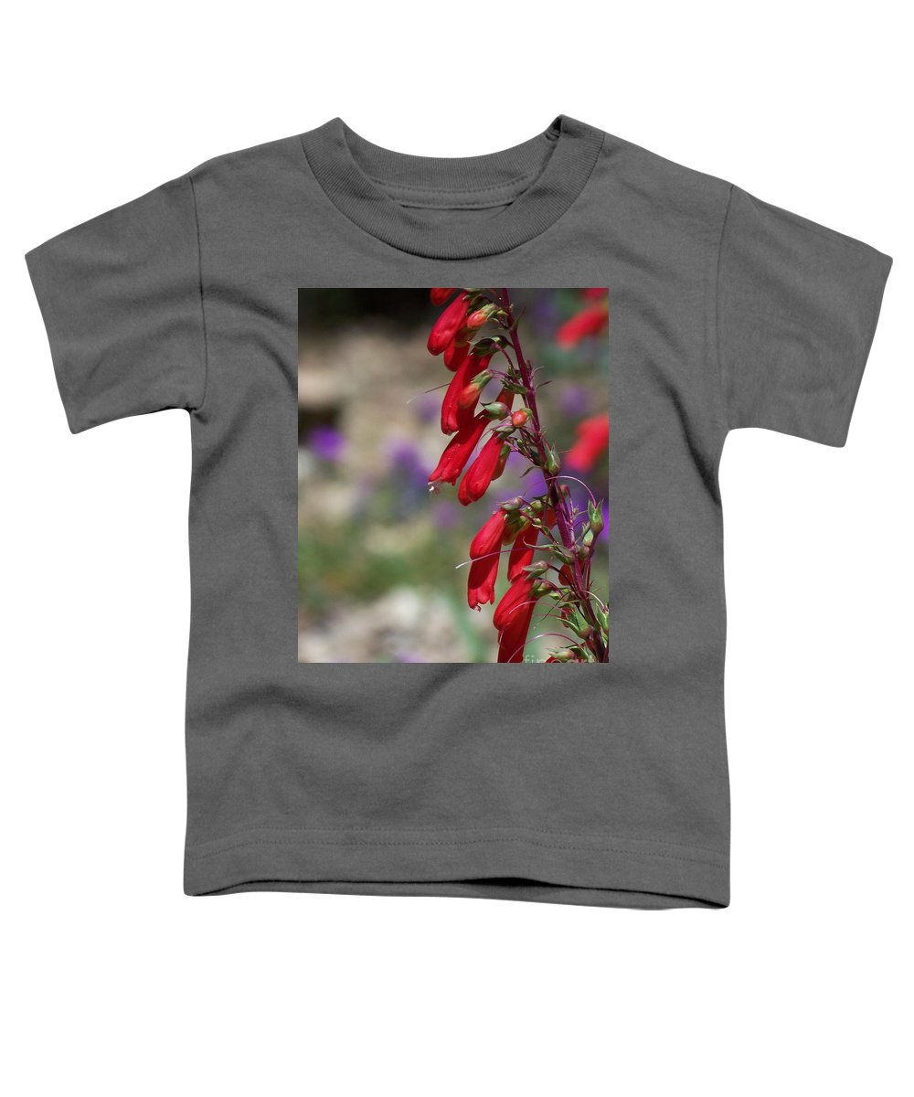 Flowers Toddler T-Shirt featuring the photograph Penstemon by Kathy McClure
