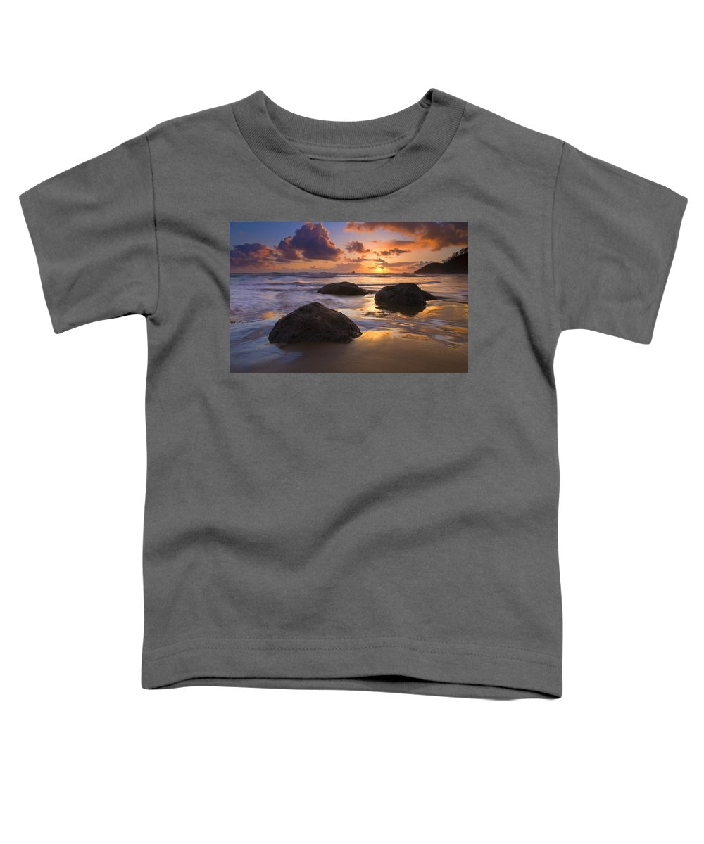 Sunset Toddler T-Shirt featuring the photograph Pieces Of Eight by Mike Dawson