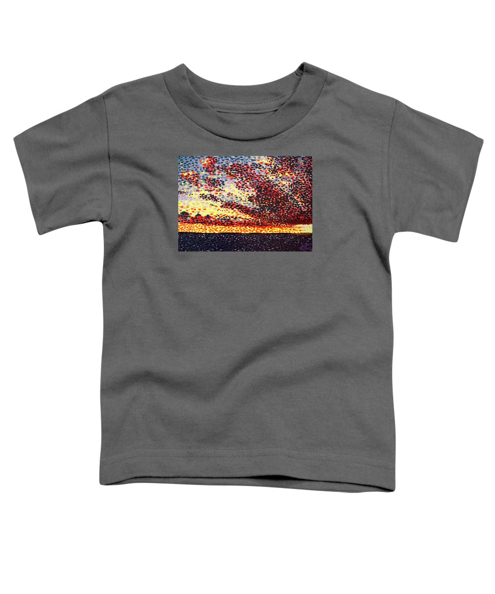 Plum Clouds Toddler T-Shirt featuring the painting Plum Clouds by Alan Hogan