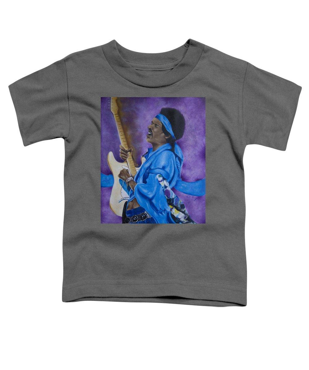 Portraiture Toddler T-Shirt featuring the painting Purple Haze by Stephen J DiRienzo