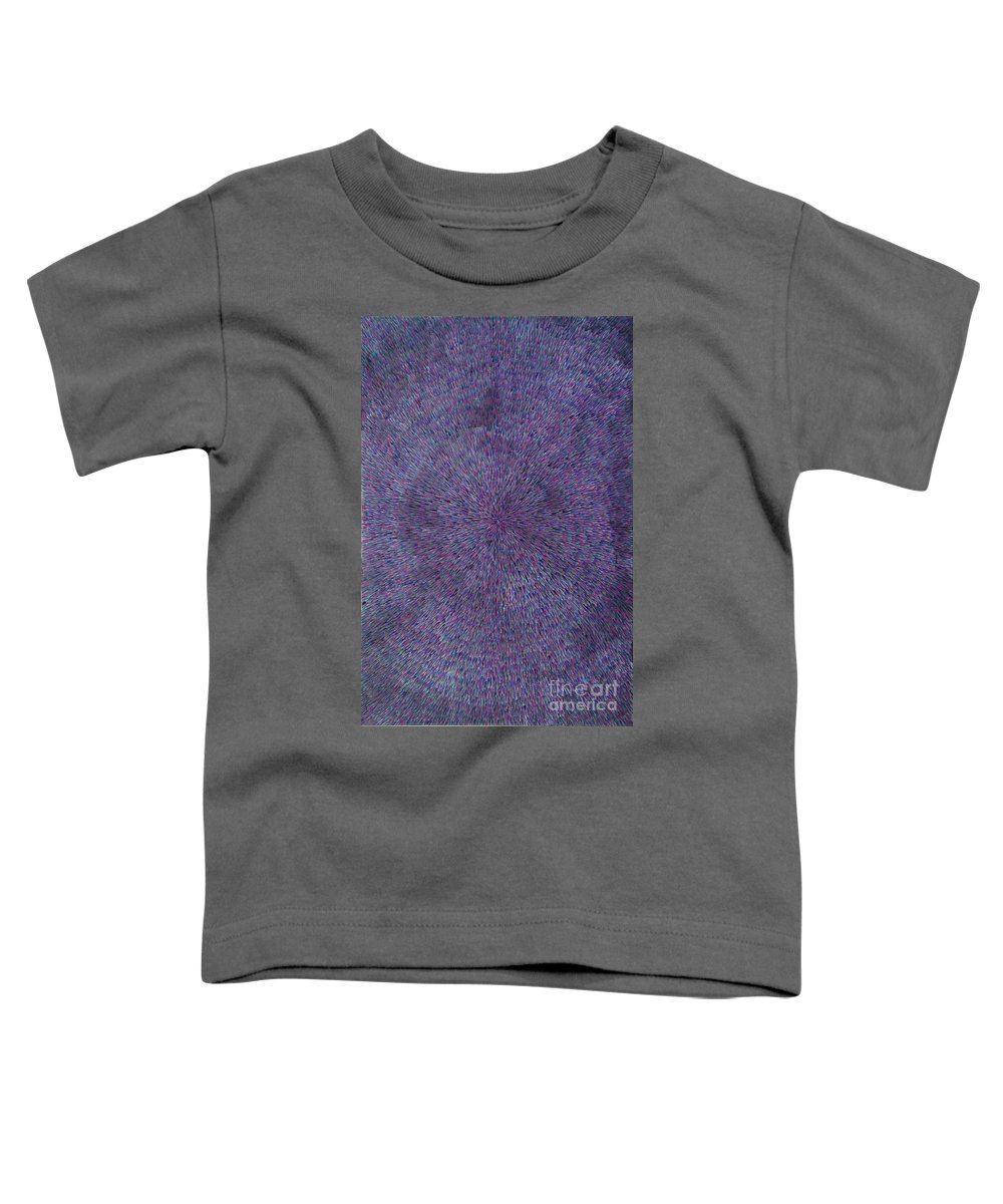 Abstract Toddler T-Shirt featuring the painting Radiation Violet by Dean Triolo