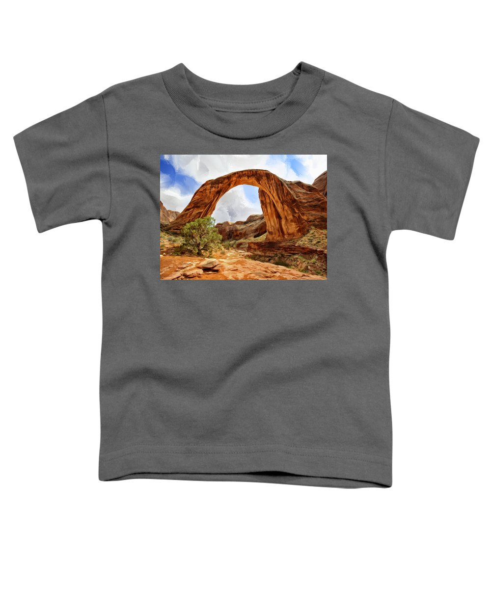 Rainbow Toddler T-Shirt featuring the painting Rainbow Bridge by Dominic Piperata