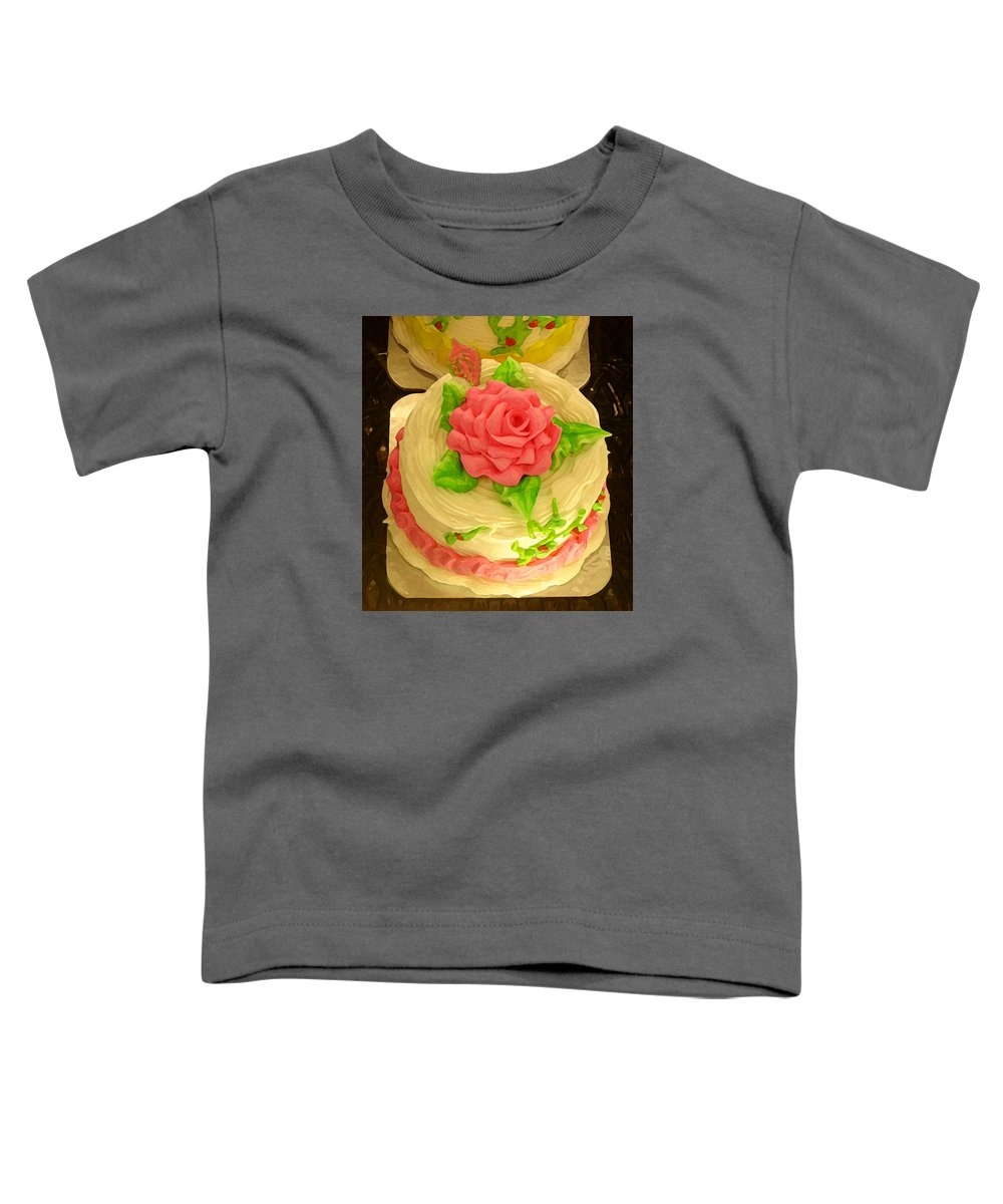 Food Toddler T-Shirt featuring the painting Rose Cakes by Amy Vangsgard