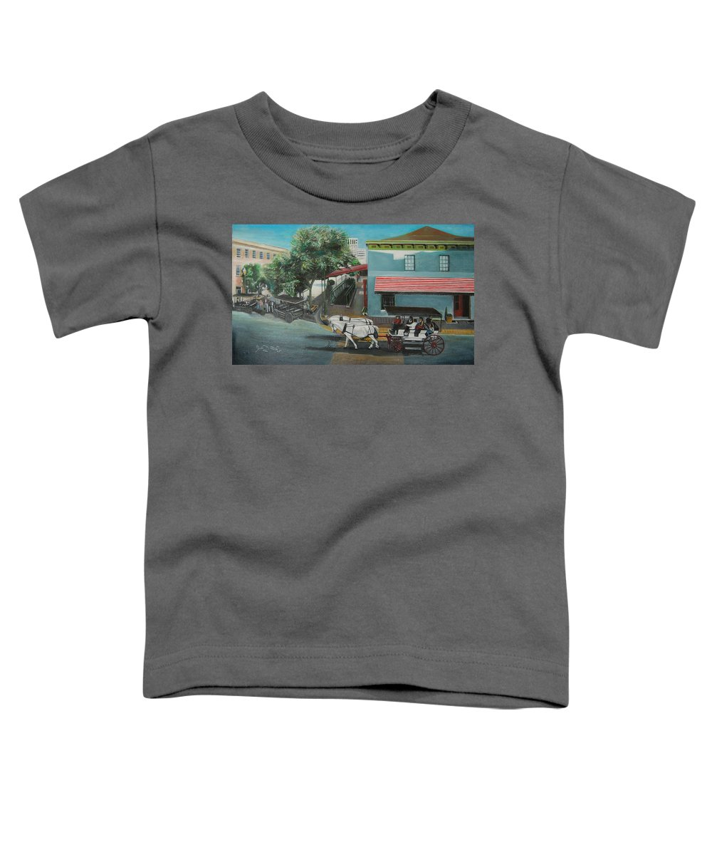 Toddler T-Shirt featuring the painting Savannah City Market by Jude Darrien