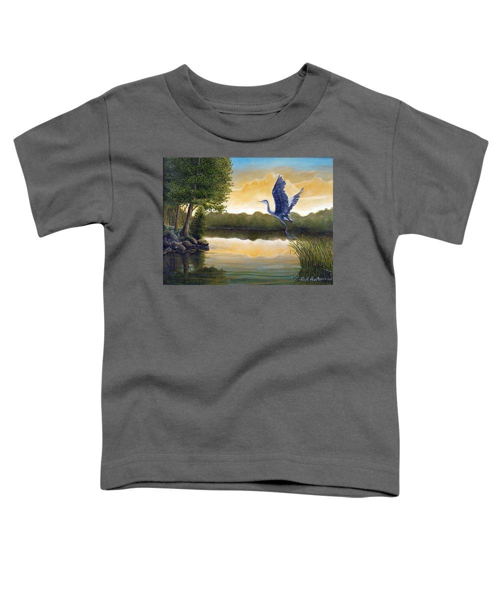 Rick Huotari Toddler T-Shirt featuring the painting Serenity by Rick Huotari