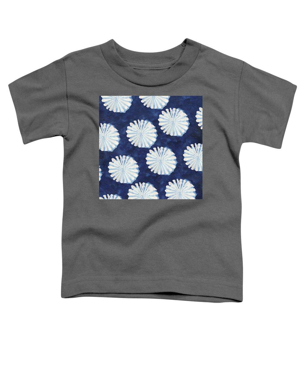 Shibori Toddler T-Shirt featuring the digital art Shibori IIi by Elizabeth Medley