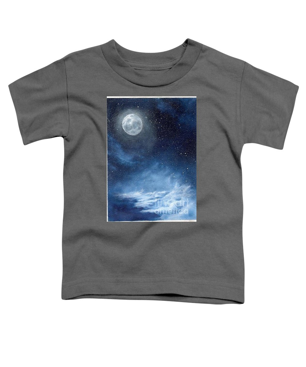Cosmos Toddler T-Shirt featuring the painting Shimmer by Murphy Elliott