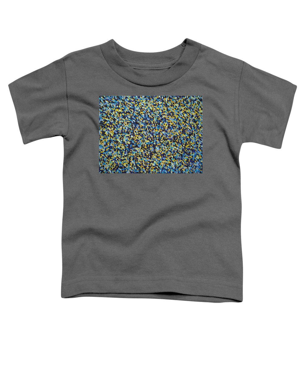Abstract Toddler T-Shirt featuring the painting Soft Blue With Yellow by Dean Triolo