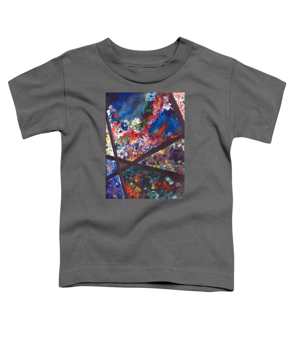 Abstract Toddler T-Shirt featuring the painting Spectral Chaos by Micah Guenther