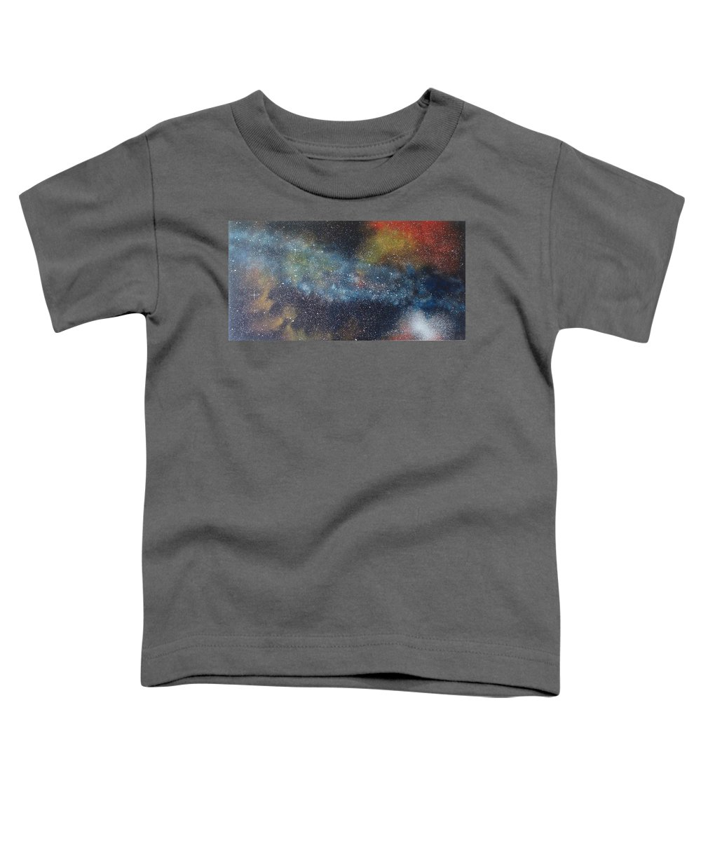 Space;stars;starry;nebula;spiral;galaxy;star Cluster;celestial;cosmos;universe;orgasm Toddler T-Shirt featuring the painting Stargasm by Sean Connolly
