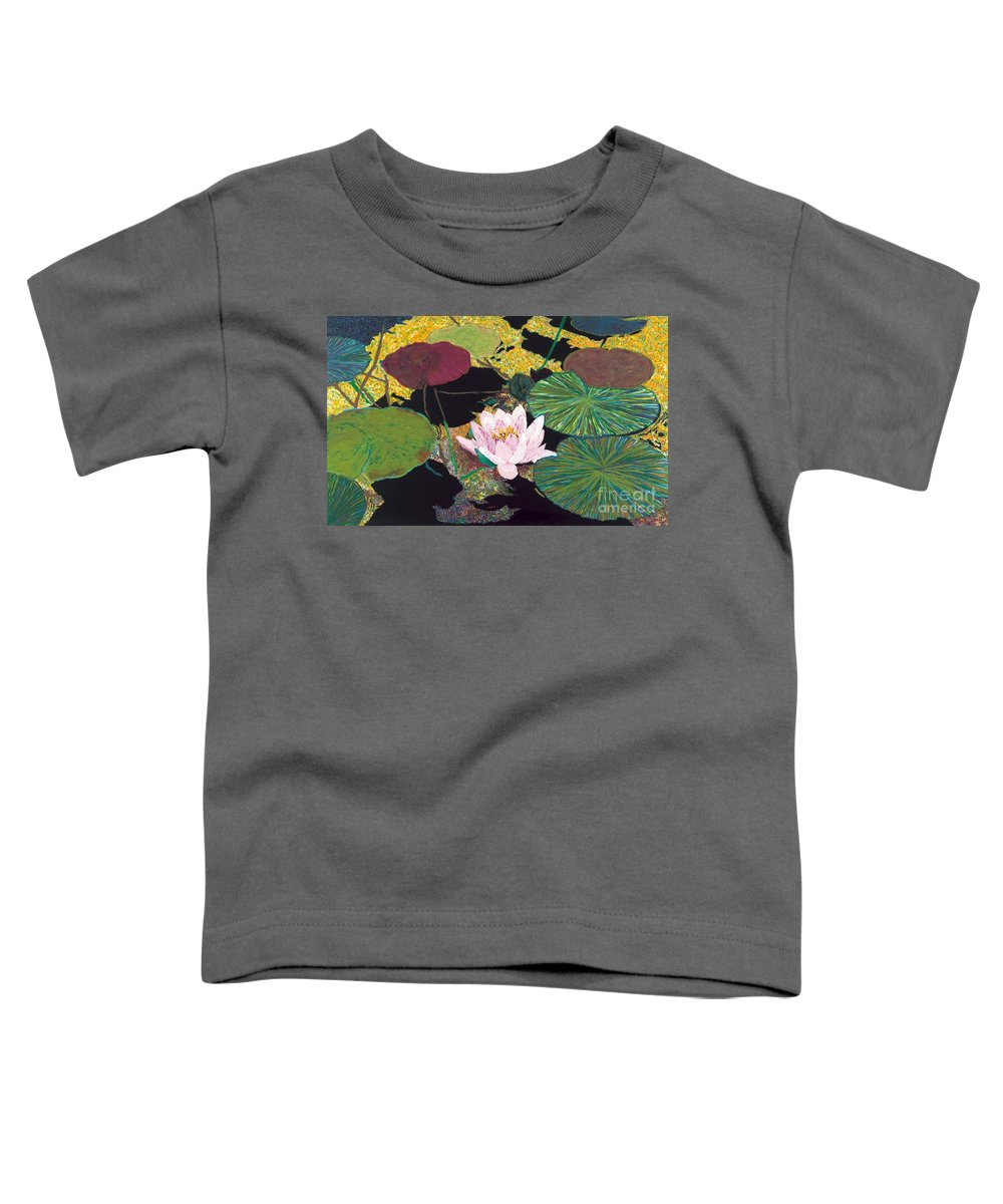 Landscape Toddler T-Shirt featuring the painting Steamy Pond by Allan P Friedlander