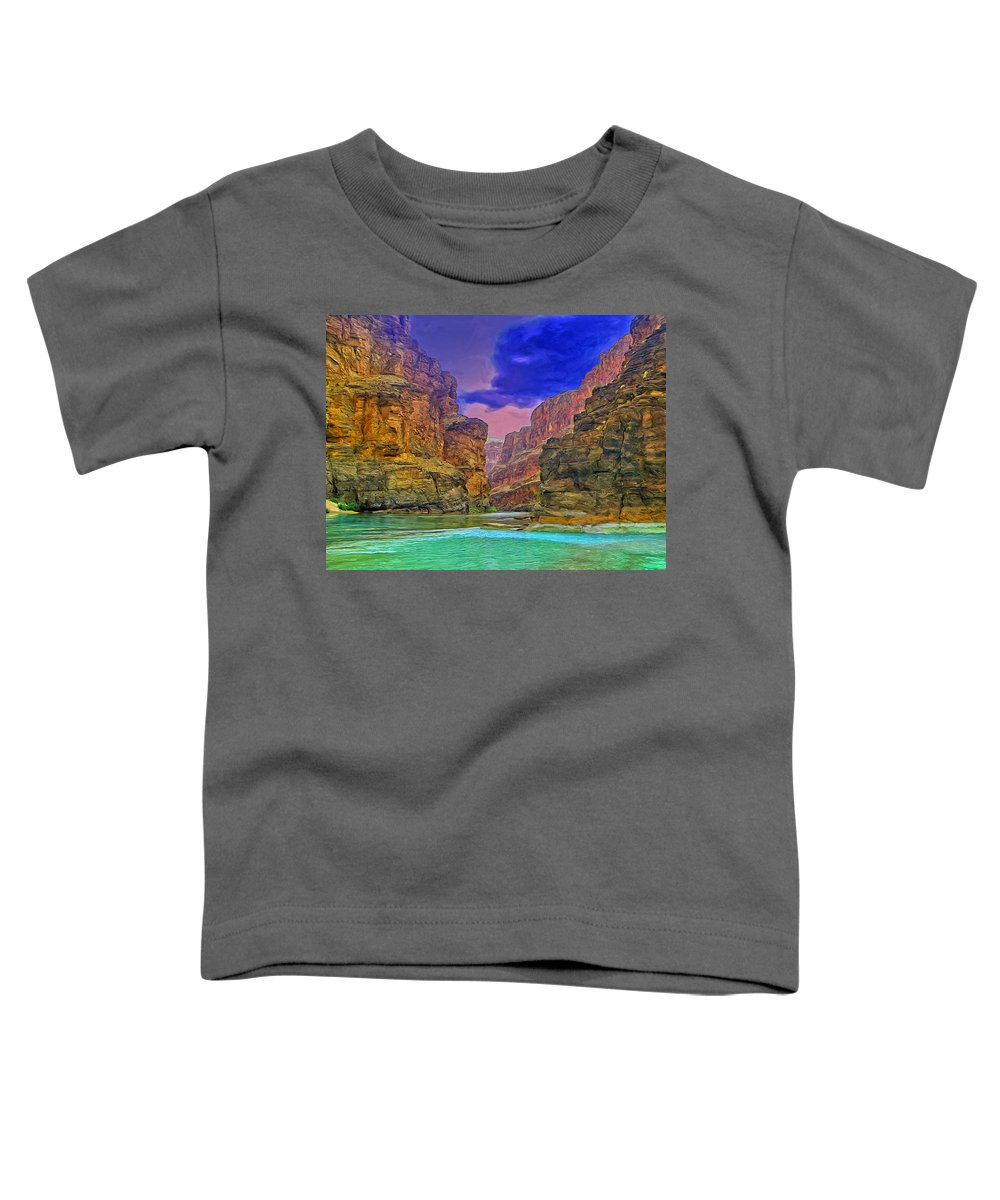 Storm Toddler T-Shirt featuring the painting Storm Over Havasu Creek by Dominic Piperata