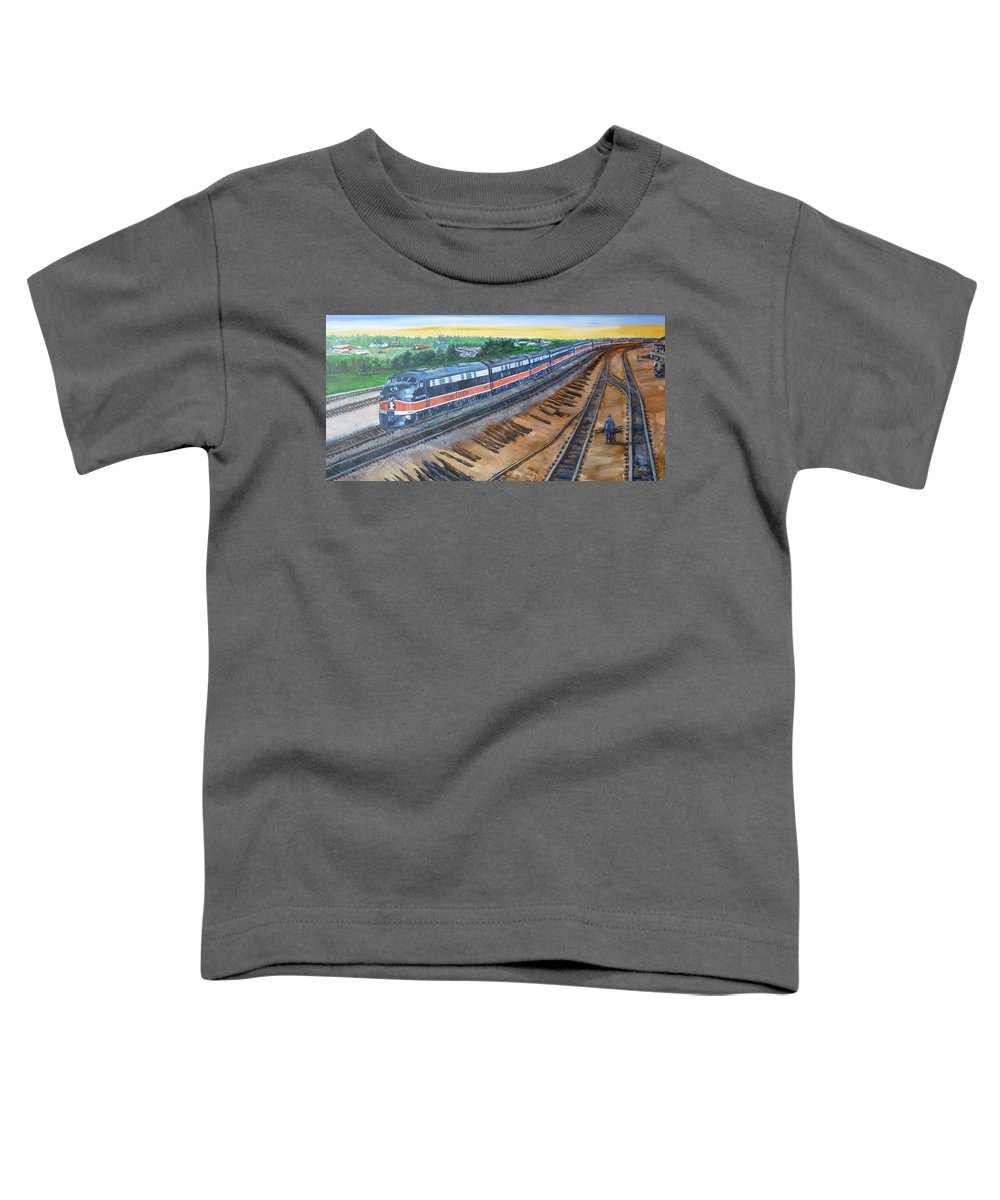 Train Toddler T-Shirt featuring the painting The City Of New Orleans by Bryan Bustard