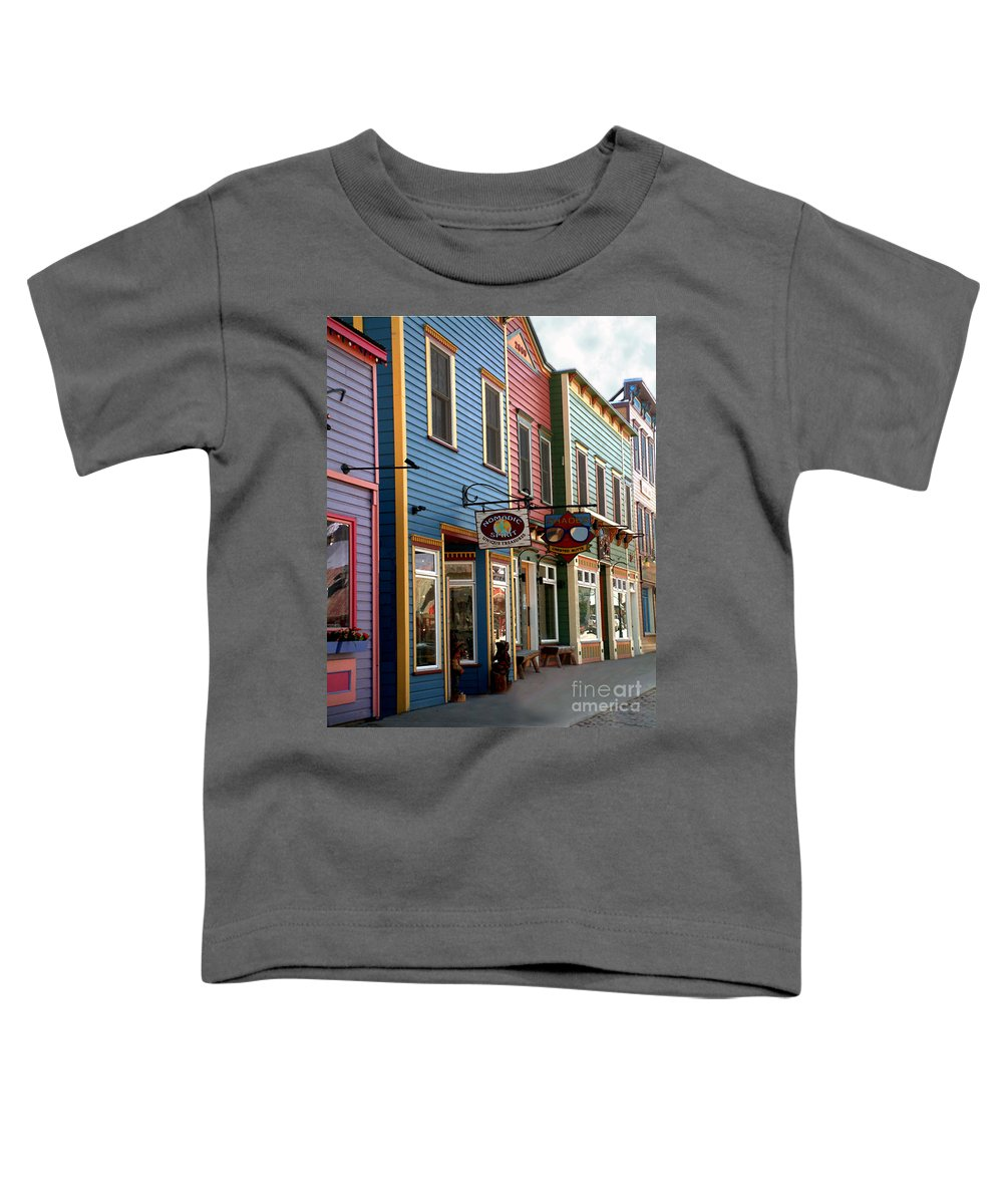 Landscape Toddler T-Shirt featuring the photograph The Shops In Crested Butte by RC DeWinter