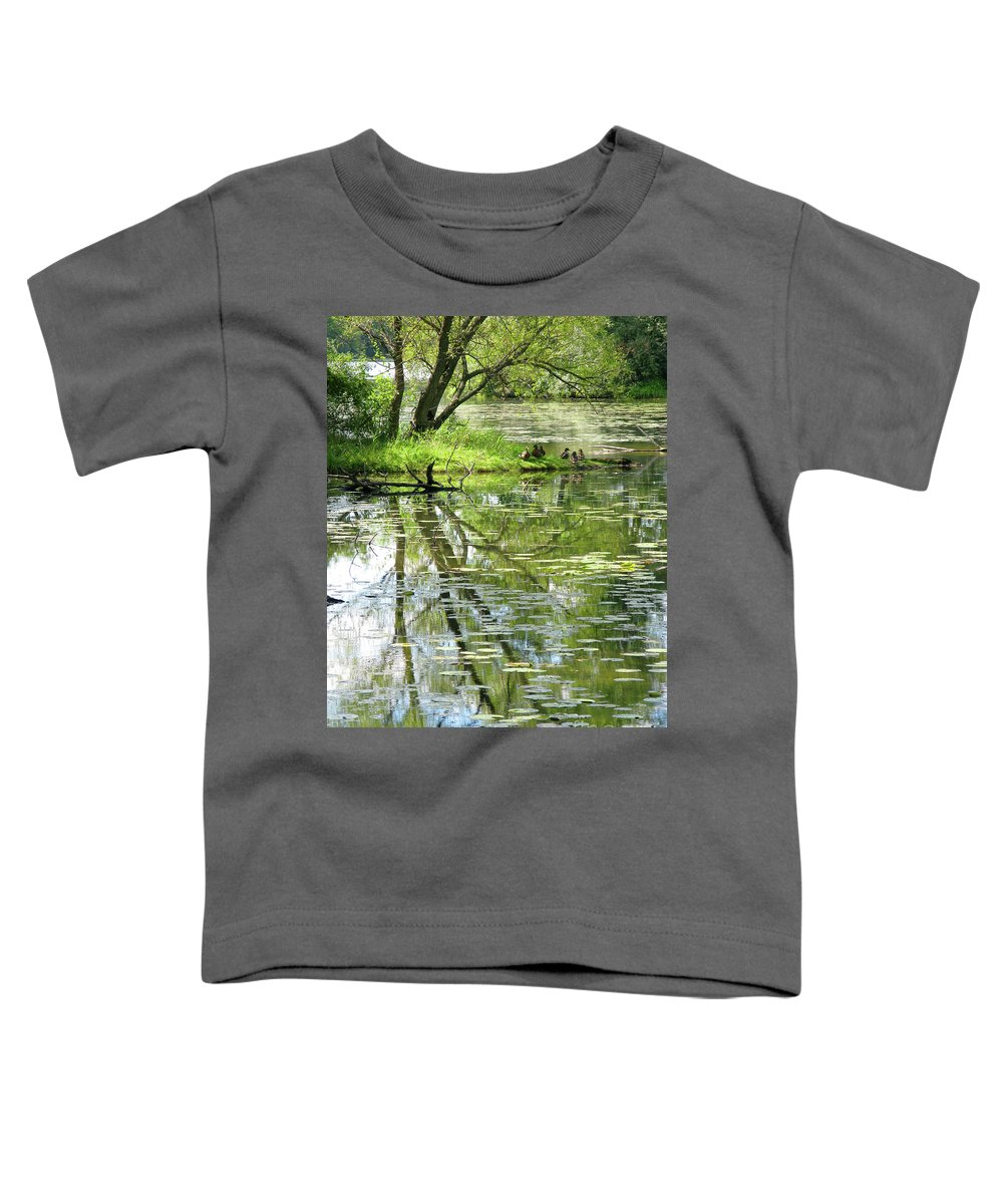 Reflection Toddler T-Shirt featuring the photograph Tranquility by Ann Horn