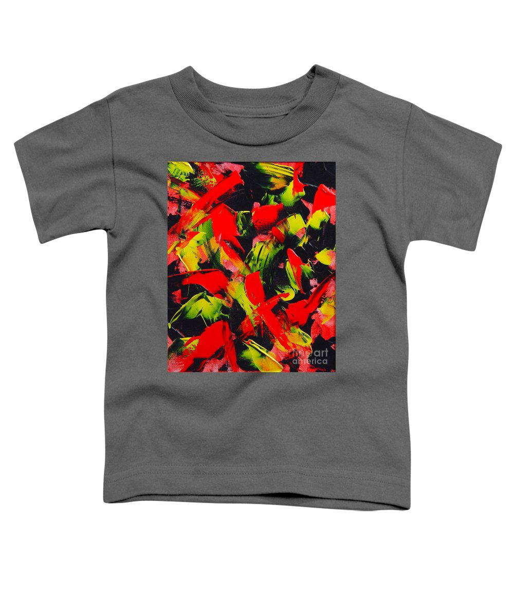 Abstract Toddler T-Shirt featuring the painting Transitions IIi by Dean Triolo