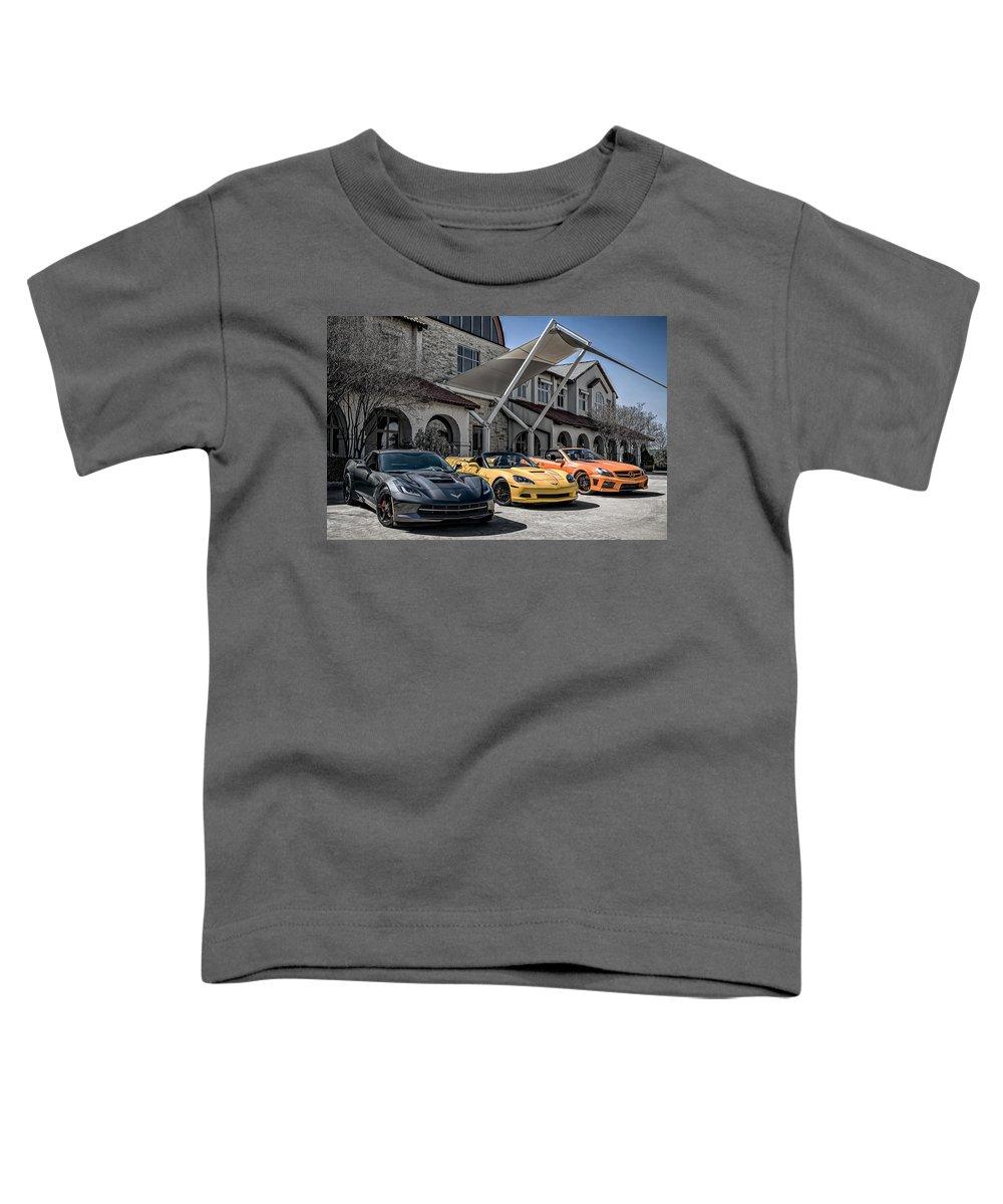 Chevrolet Toddler T-Shirt featuring the digital art Triple Threat by Douglas Pittman
