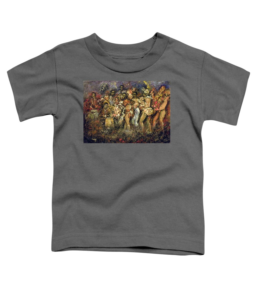 Tropicana Toddler T-Shirt featuring the painting Tropicana Havana by Tomas Castano