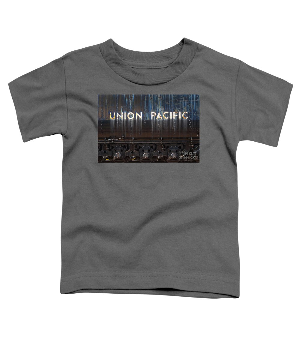 Railroad Toddler T-Shirt featuring the photograph Union Pacific - Big Boy Tender by Paul W Faust - Impressions of Light