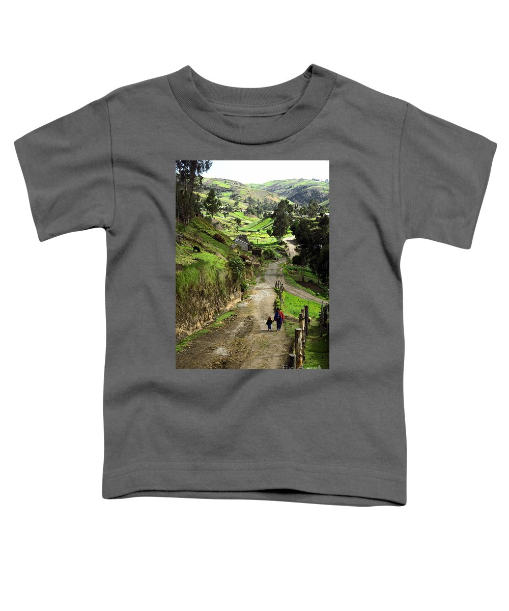 Ecuador Toddler T-Shirt featuring the photograph View Of Lupaxi by Kathy McClure