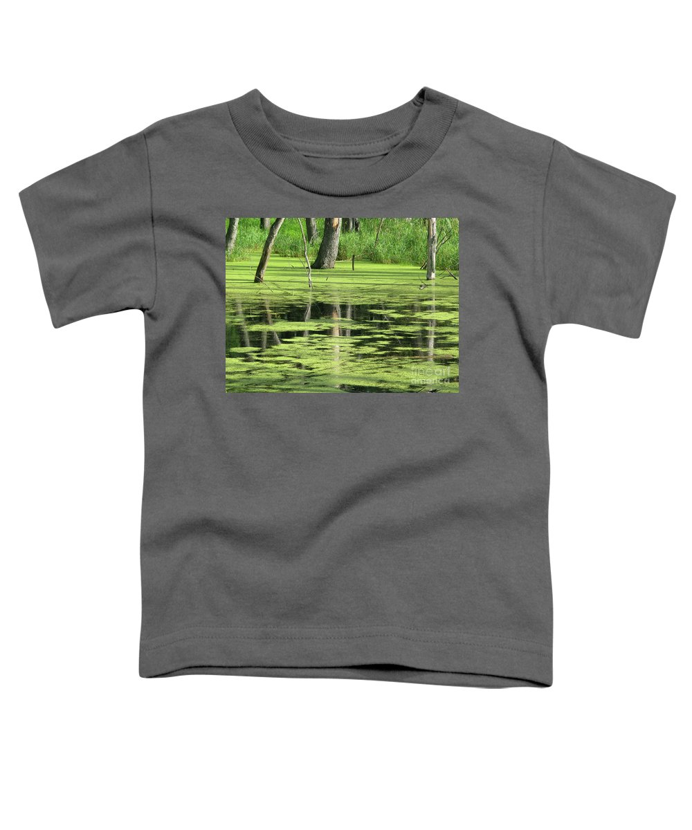 Landscape Toddler T-Shirt featuring the photograph Wetland Reflection by Ann Horn