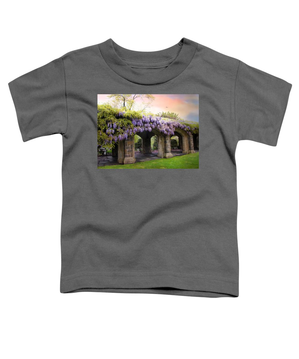 Spring Toddler T-Shirt featuring the photograph Wisteria In May by Jessica Jenney