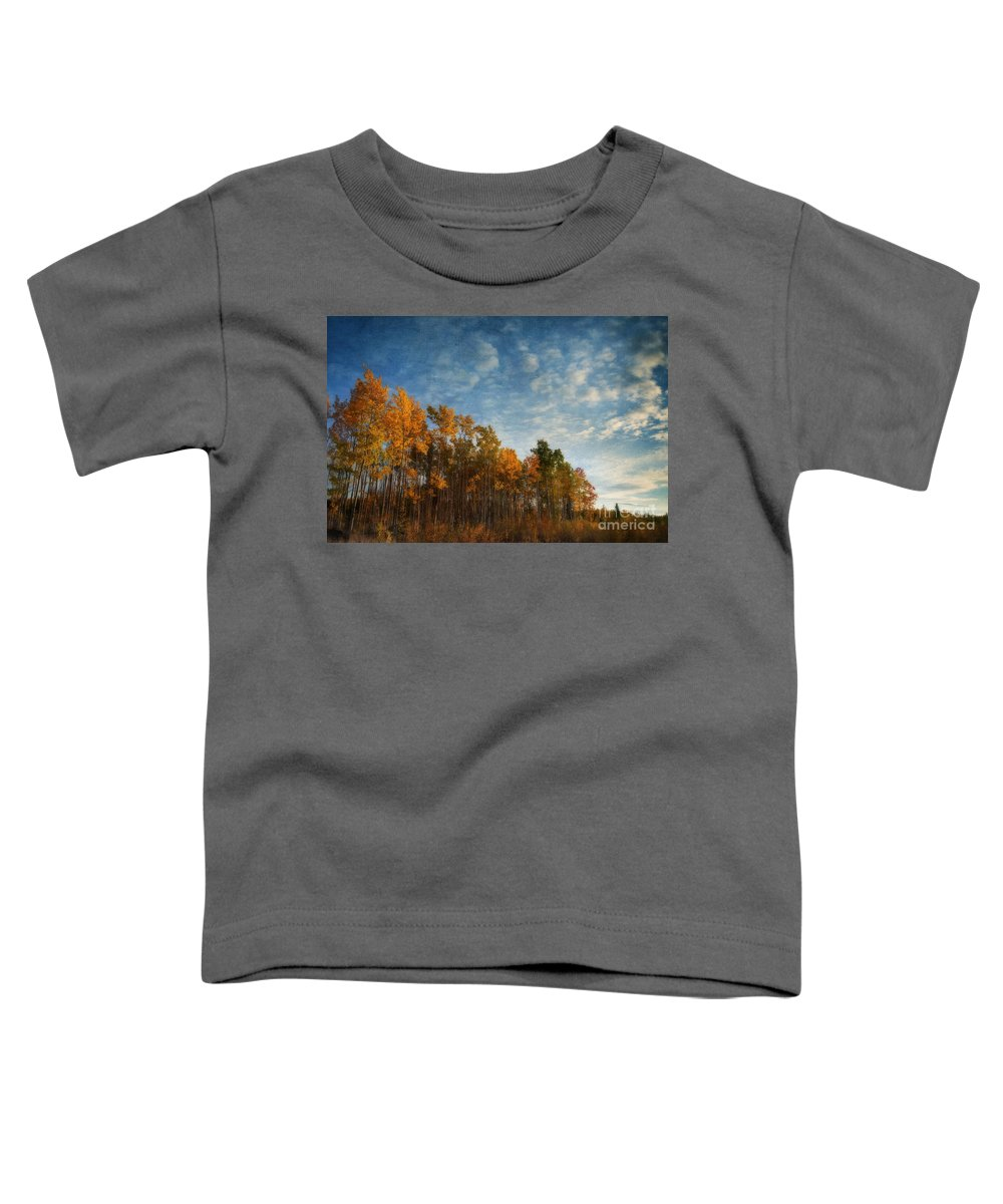Fall Toddler T-Shirt featuring the photograph Dressed In Autumn Colors by Priska Wettstein