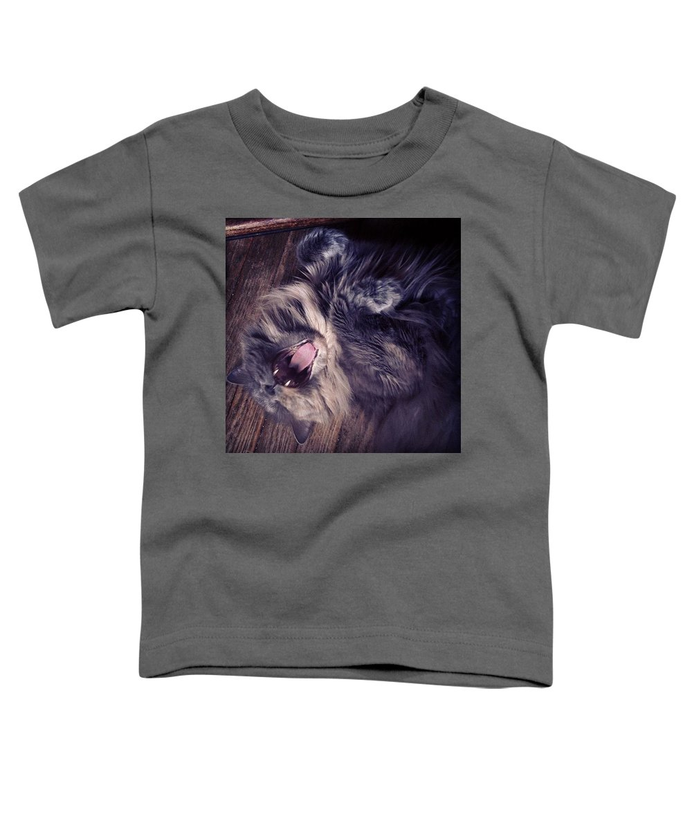 Fangs Toddler T-Shirt featuring the photograph Has #fangs. Not Afraid To Use 'em by Katie Cupcakes