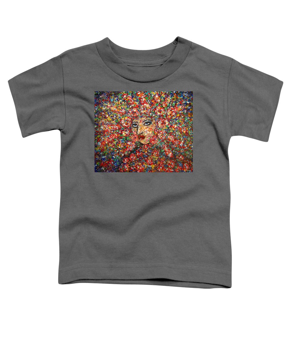 Woman Toddler T-Shirt featuring the painting  Gentle Beautiful Flower by Natalie Holland