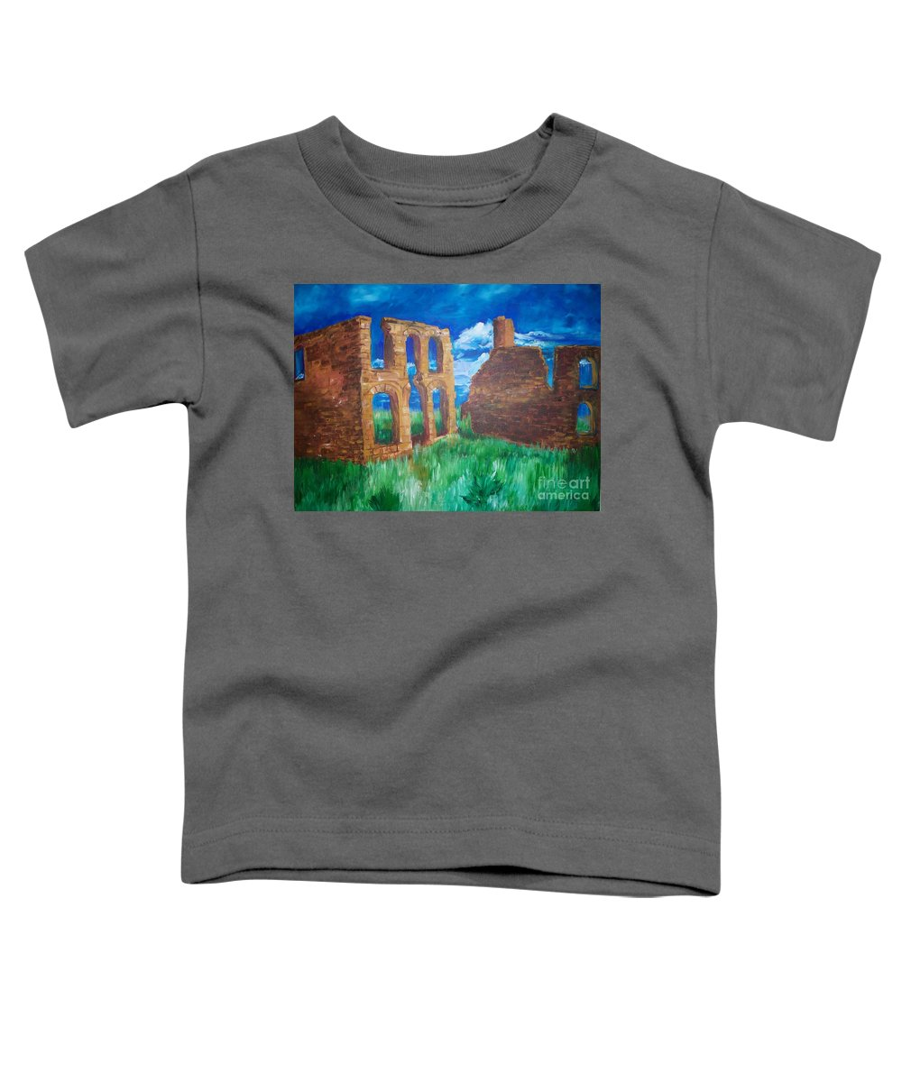 Western_landscapes Toddler T-Shirt featuring the painting Ghost Town by Eric Schiabor