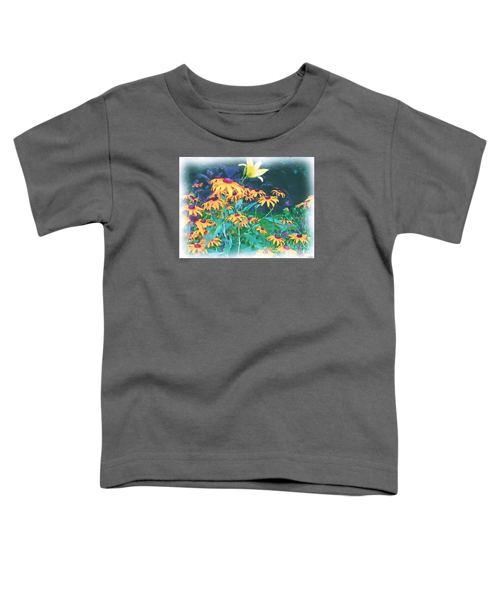 Mixed Media Toddler T-Shirt featuring the painting A Lily In The Field by Patricia Griffin Brett