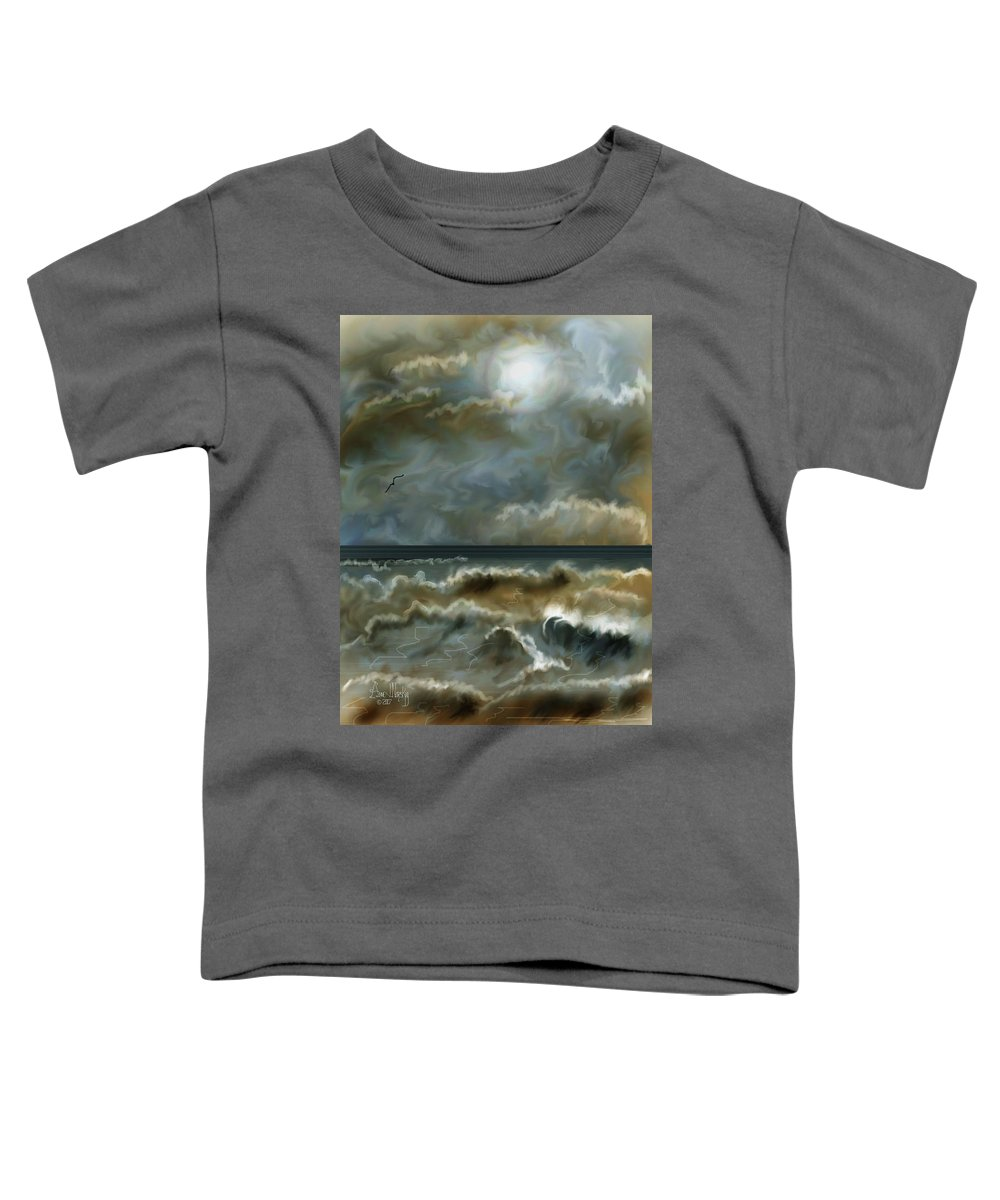 Seascape Toddler T-Shirt featuring the painting After The Squall by Anne Norskog