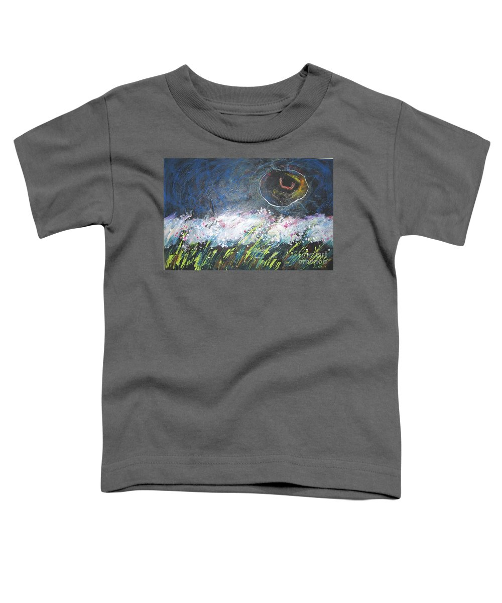 Aabstract Paintings Toddler T-Shirt featuring the painting Buckwheat Field by Seon-Jeong Kim