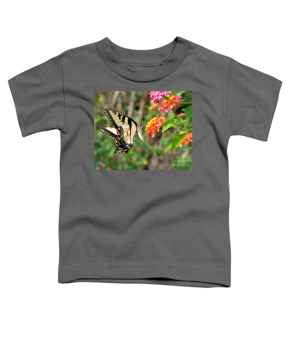 Butterfly Toddler T-Shirt featuring the photograph Butterfly by Amanda Barcon