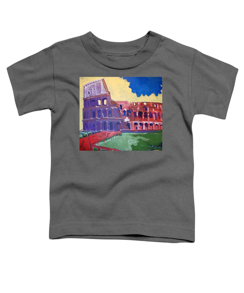 Rome Toddler T-Shirt featuring the painting Colosseum by Kurt Hausmann