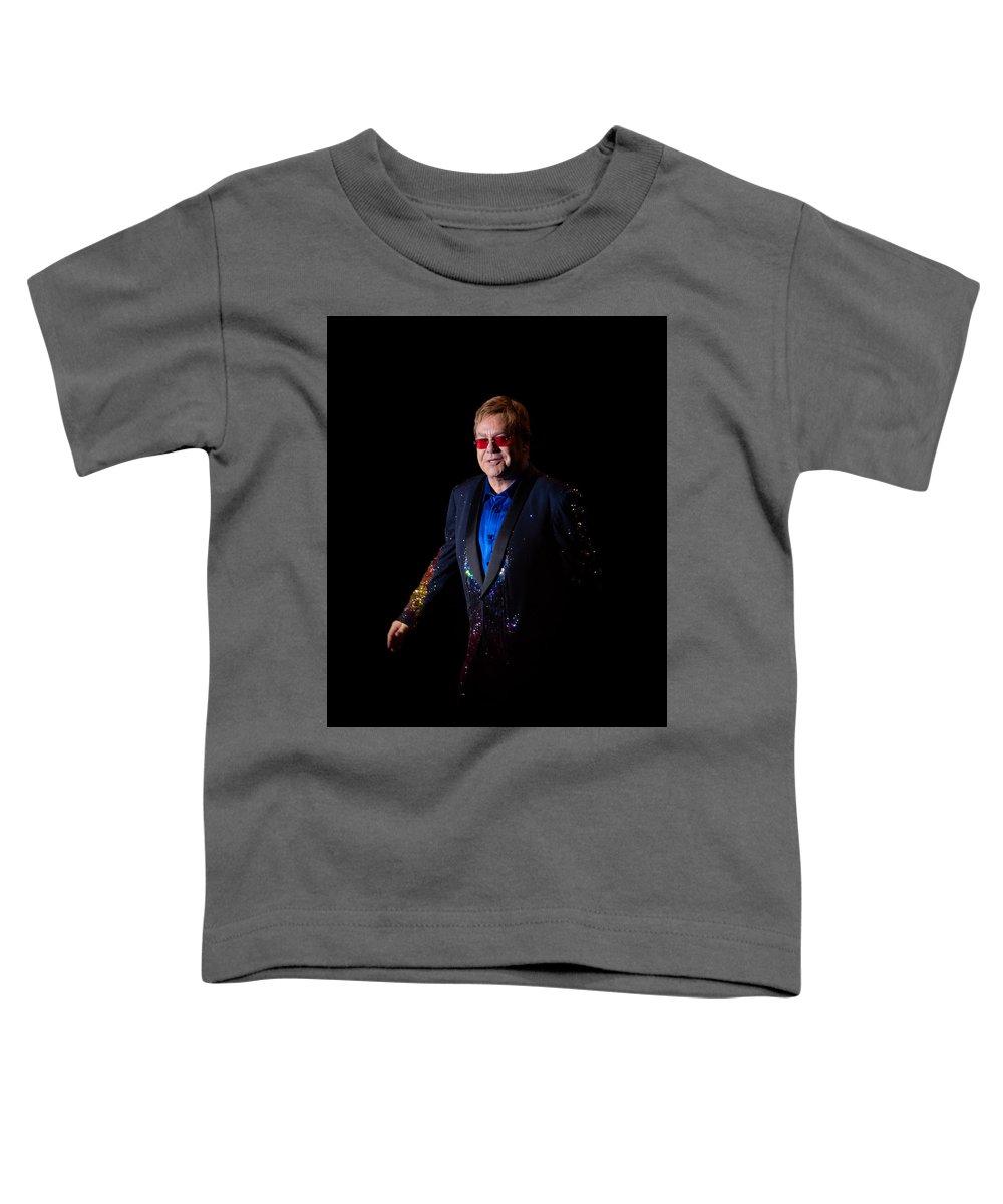Elton Toddler T-Shirt featuring the photograph Elton John by Chris Cousins