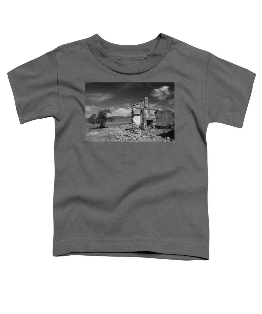 Cottage Toddler T-Shirt featuring the photograph Farmhouse Cottage Ruin Flinders Ranges South Australia by Ralph A Ledergerber-Photography