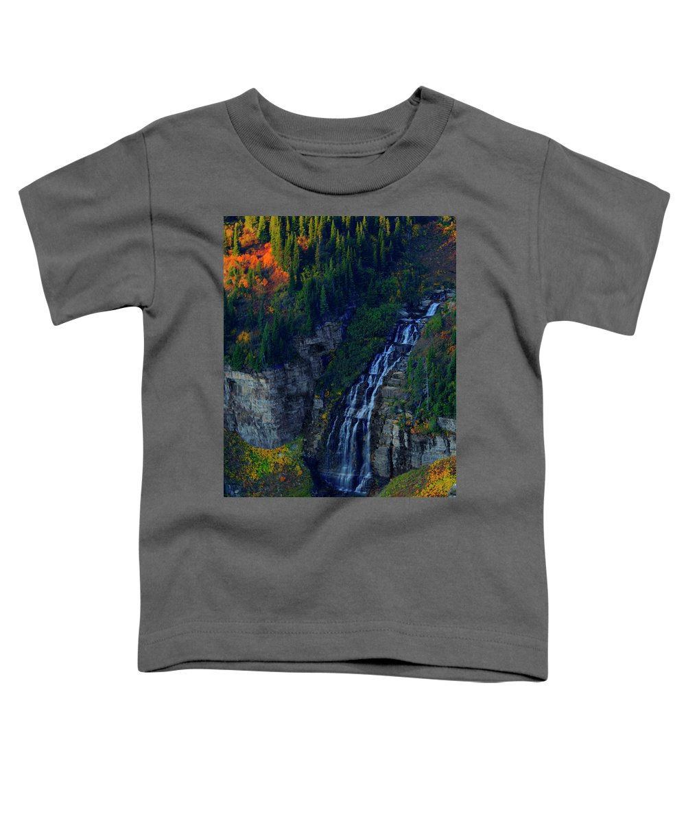 Glacier Toddler T-Shirt featuring the photograph Glacier Waterfall by Roy Nierdieck