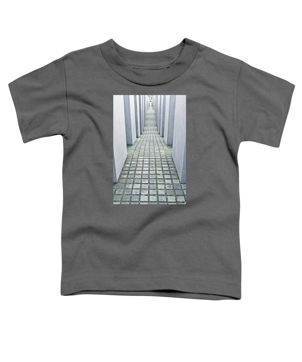 Abstract Toddler T-Shirt featuring the photograph Holocaust Memorial by Tom Gowanlock