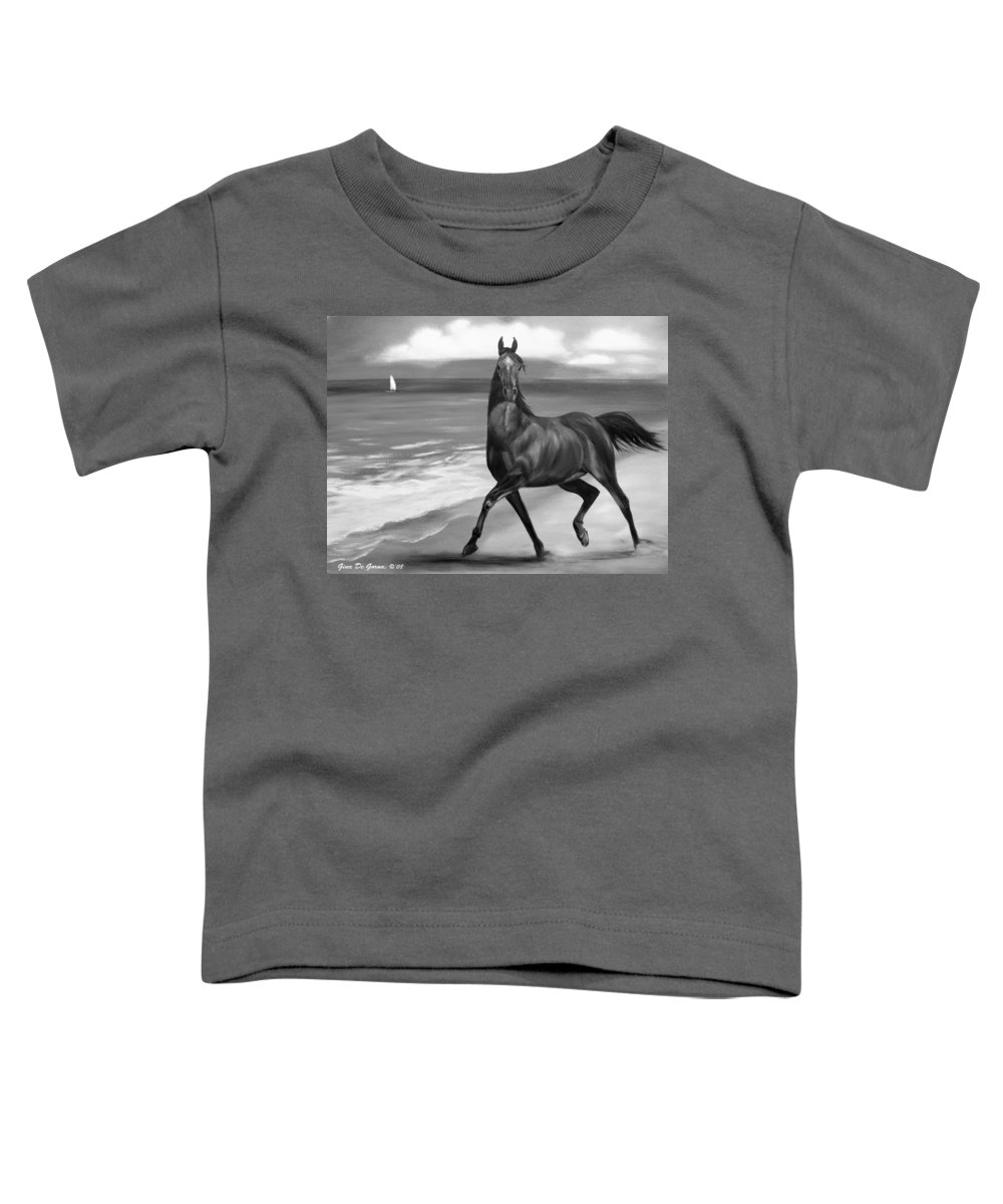 Horses Toddler T-Shirt featuring the painting Horses In Paradise Dance by Gina De Gorna
