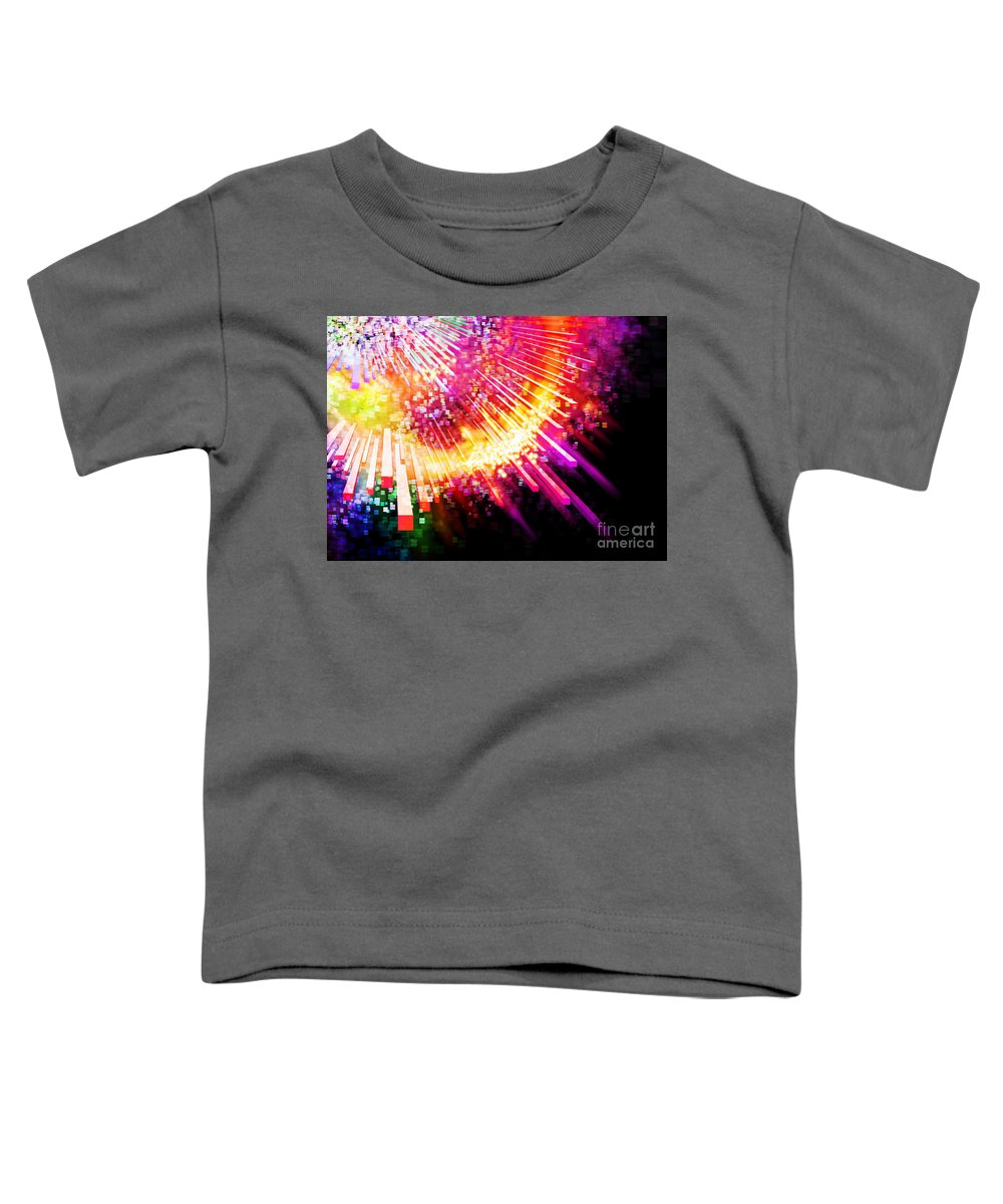 Abstract Toddler T-Shirt featuring the photograph Lighting Explosion by Setsiri Silapasuwanchai