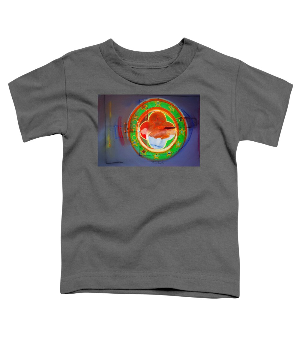 Symbol Toddler T-Shirt featuring the painting Ship Of State by Charles Stuart