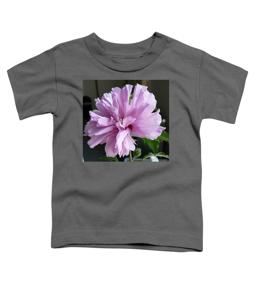 Phoyography.hibiscus Flower Floral Bloom Bush Pink Toddler T-Shirt featuring the photograph So Pink by Karin Dawn Kelshall- Best