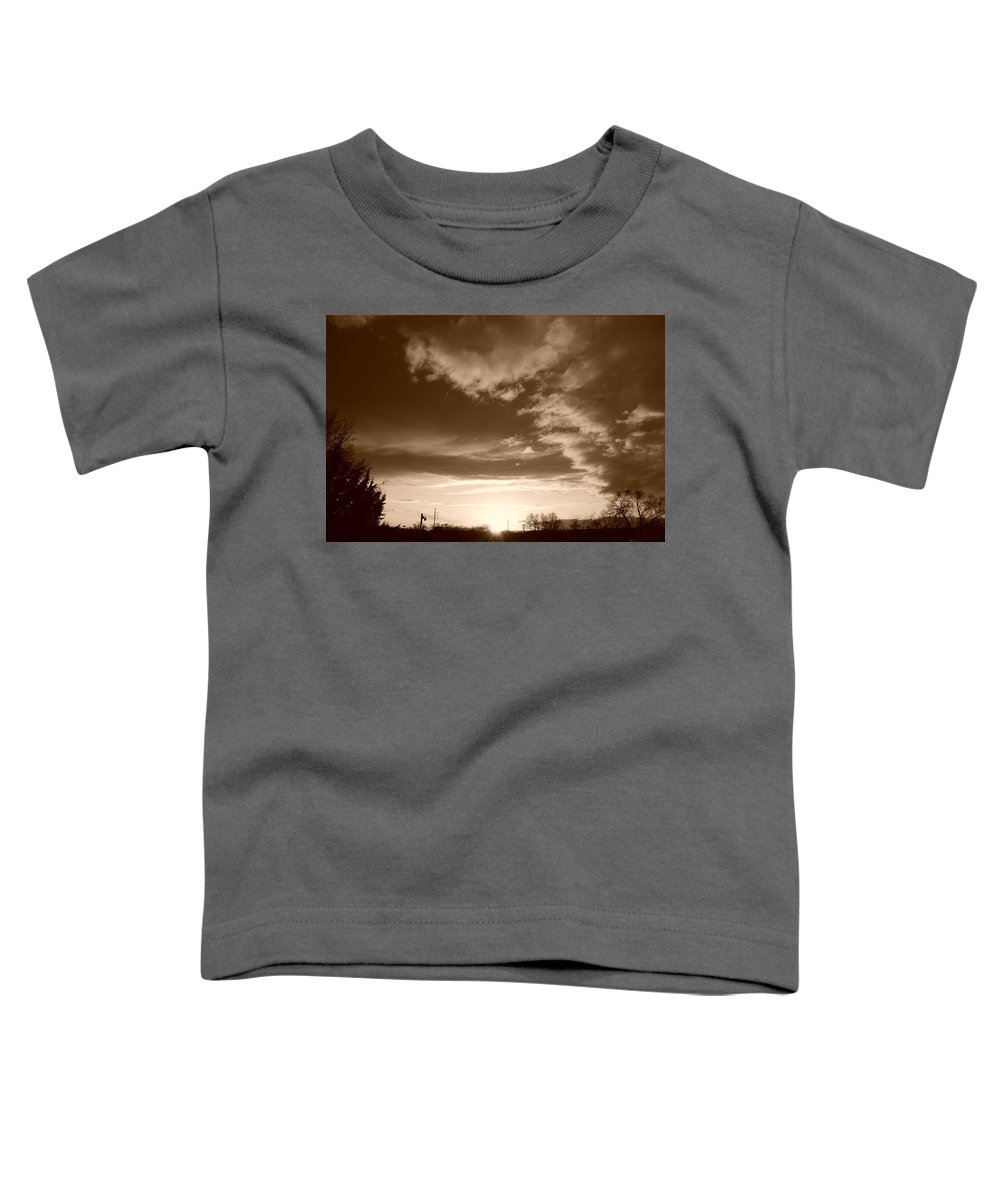 Sunset Toddler T-Shirt featuring the photograph Sunset And Clouds by Rob Hans