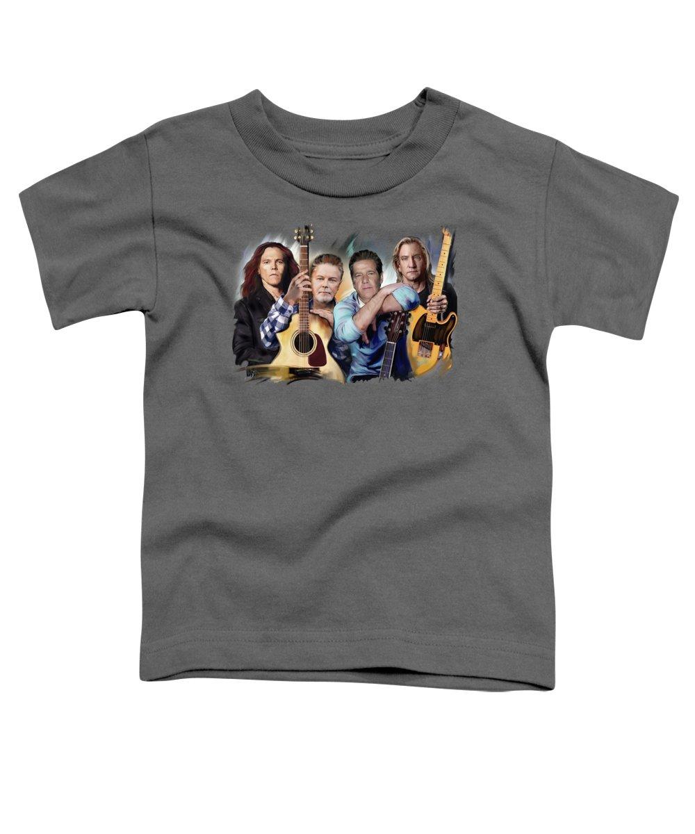 Rock Mixed Media Toddler T-Shirts