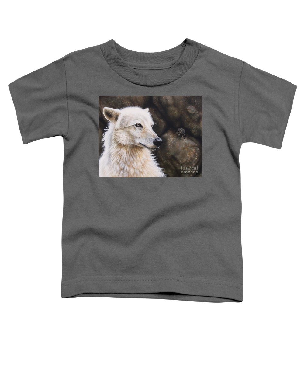 Acrylic Toddler T-Shirt featuring the painting The Mouse by Sandi Baker
